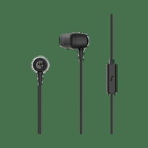 metal earbuds zwart